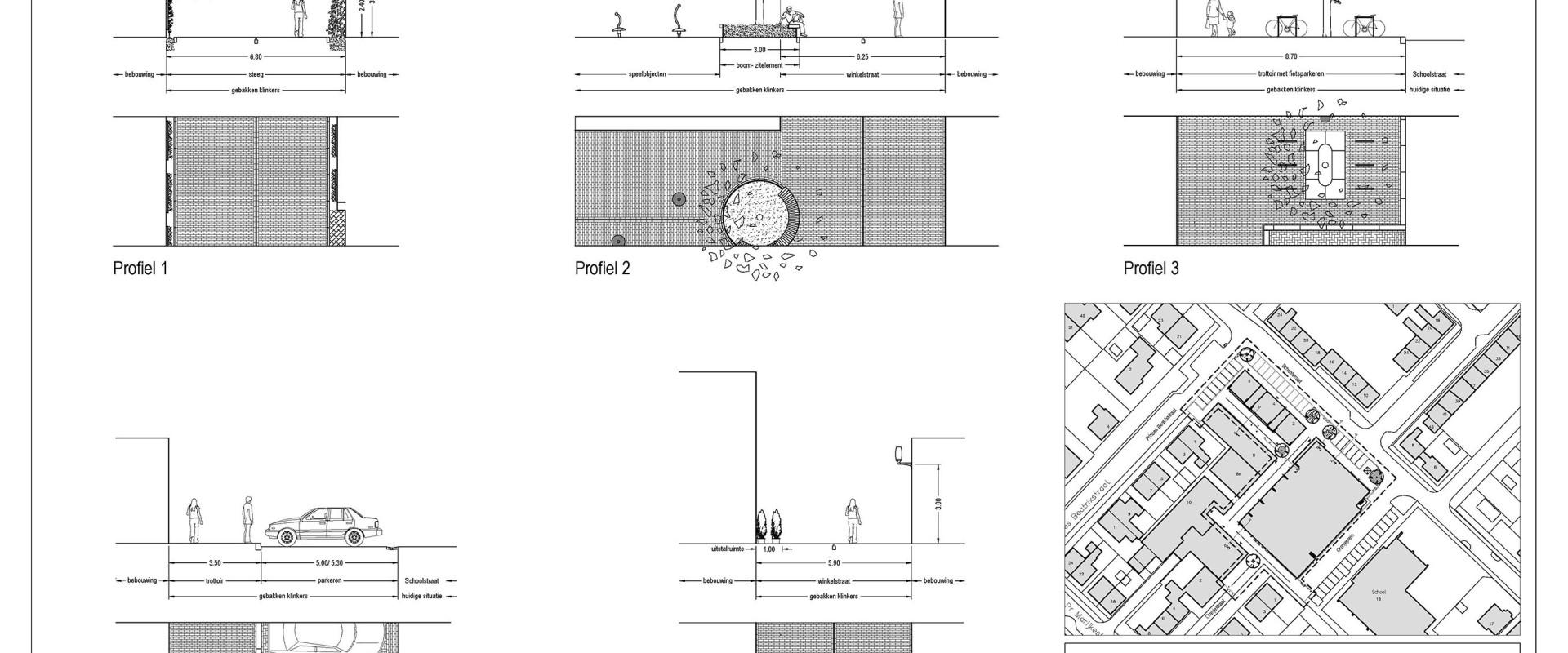 091118_ DO inrichtingsplan Oranjeplein A2 profielen 1op100